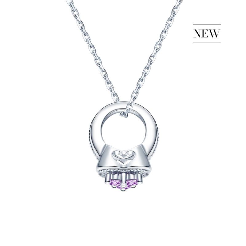 DR爱的礼物 BABY RING系列 MY HEART-天秤座(紫水晶)