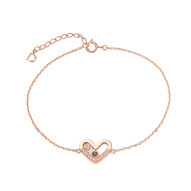 DR爱的礼物 SWEETIE系列 在一起 心形手链