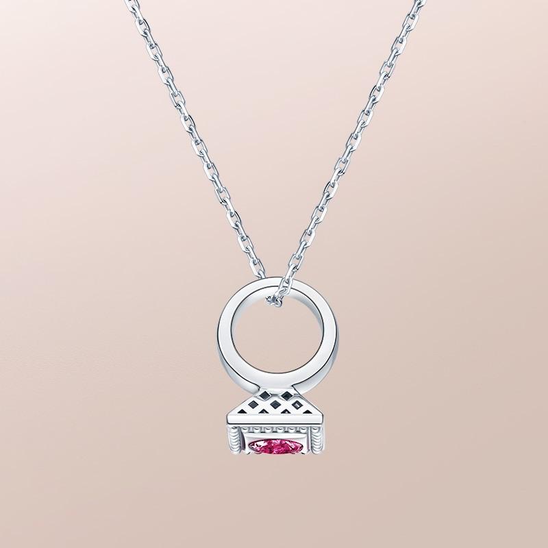 DR愛的禮物 BABY RING系列 DR PARIS 52°-巨蟹座(盧比萊碧璽) 套鏈