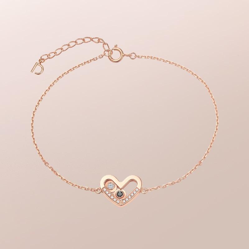 DR爱的礼物 SWEETIE系列 在一起 心形 手链