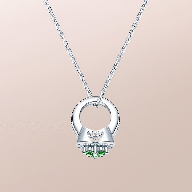 DR爱的礼物 BABY RING系列 MY HEART-射手座(沙弗莱) 套链