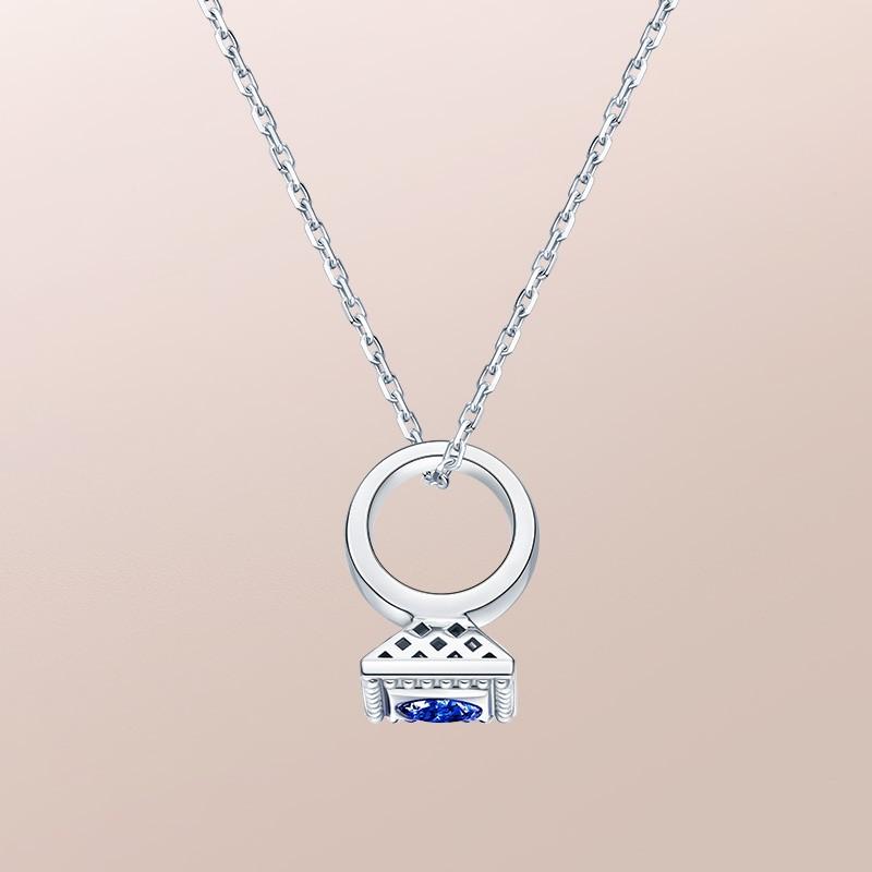 DR爱的礼物 BABY RING系列 DR PARIS 52°-金牛座(蓝宝石) 套链