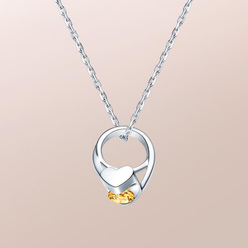 DR爱的礼物 BABY RING系列 JUST YOU-狮子座(黄水晶) 套链