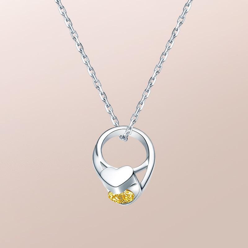 DR爱的礼物 BABY RING系列 JUST YOU-双子座(黄色蓝宝石) 套链