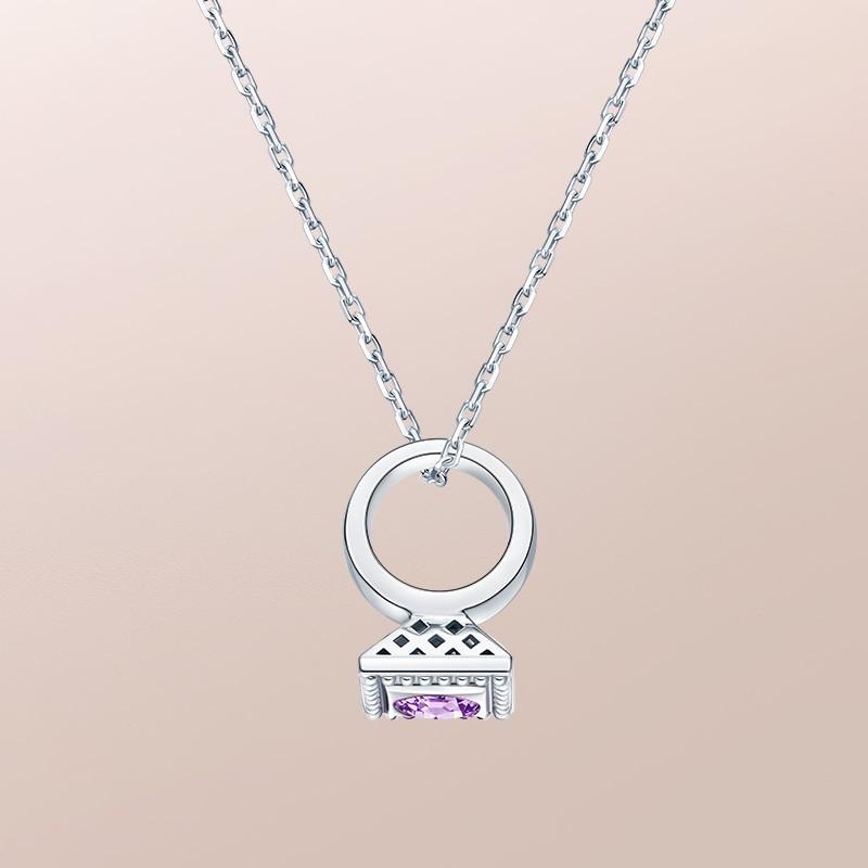 DR爱的礼物 BABY RING系列 DR PARIS 52°-天秤座(紫水晶) 套链
