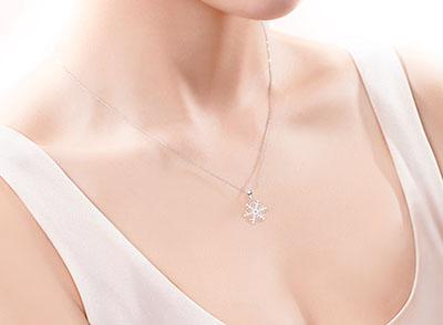 DR珠宝新品SNOW LOVE系列雪花套链 浪漫的圣诞礼物