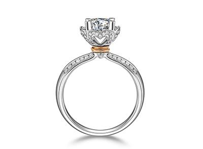 菱形戒指博士 Love 形成一层彼此相连接的东西简洁的腆